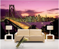 Wholesale scenery for painting online - WDBH d wallpaper custom photo Viaduct high speed scenery background painting living room home decor d wall murals wallpaper for walls d