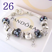 925 pandora libre al por mayor-¡envío libre caliente !!! AAA2 Charm Bracelets 925 Silver Pandora Bracelets viene con caja, bolsa 2019 envío gratis