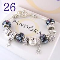 925 freie pandora großhandel-kostenloser versand Hot !!! AAA2 Charm Armbänder 925 Silber Pandora Armbänder werden mit Box geliefert