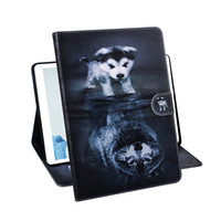Wholesale coloured tablets for sale - Group buy For Samsung Galaxy Tab A8 SM P200 P205 Tablet Case Flip Cover Stand Leather Wallet Coloured drawing Tiger Lion Owl Flower