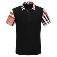 männer leopard polo großhandel-2019 New Medusa Poloshirt High street Italy Designer-Poloshirt Mode Herren Casual Polos mit Stickapplikation Schwarze Herren-Polos
