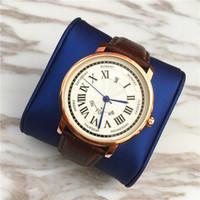 relojes para mujer precios de marcas. al por mayor-Top Moda Mujer Relojes de marca Calendario automático reloj de los hombres de los hombres de cuero genuino reloj de señora Quartz precio al por mayor reloj unisex de alta calidad