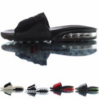 ingrosso uomini ciabatte nere-Air Cushion Slipper Maxes Moda Camden diapositive vapori Sole Oreo Palestra Red Triple Nero Sandalo Mocassini per i Mens maschio infradito pantoufle
