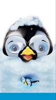 ingrosso bicchieri da pinguino-5x7ft Happy Feet Penguin Lovely Glasses Snow Personalizzato Photo Studio Sfondo Fondale in vinile 220cm x 150cm