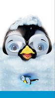 lunettes de pingouin achat en gros de-5x7ft Pieds Heureux Pingouin Belle Lunettes Neige Custom Photo Studio Fond Toile de Fond Vinyle 220 cm x 150 cm
