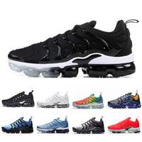 Wholesale newest shoes out resale online - Newest Black White TN Plus Cushion Running Shoes Rainbow Mens Wolf Grey bleached aqua Firecracke Hyper Blue Men women Sports Sneakers