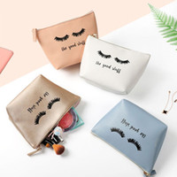 Wholesale cartoon makeup for sale - Group buy Portable Cartoon Eyelash Coin Storage Case Travel Makeup Pouch Cosmetic Bag Cases For Women Girls JUL29