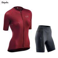 Wholesale pro cycling resale online - Pro Women Cycling Set MTB Bike Clothing Female Bicycle Clothes Ropa Ciclismo Short Sleeve Road Bike Jerseys Bib Shorts Pants Pad