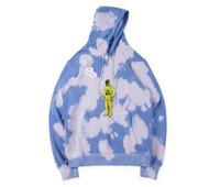 sudaderas estrella al por mayor-TRAVIS SCOTT x DOVER Star Tie Dye Sudaderas con capucha para hombre Ropa de diseñador Otoño 19FW Sudaderas