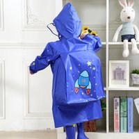 Wholesale girls cute raincoats resale online - Cute Kids Girls Boys Raincoats Pink Blue Color Floral Rain Clothes Cartoon School Hiking Clothes Rainy Children s Rain Coats