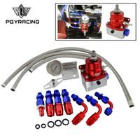 presión de fuel oil al por mayor-PQY - Regulador de presión de combustible ajustable universal Aceite de 160 psi AN 6 Acople de extremo CON / SIN PQY LOGO + PEGATINA PQY7843R