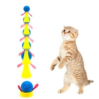 Wholesale bounce lighting ball resale online - Funny Jumping Cat Toy Pet Cat Bouncing Toy Puppy Kitten Playing Toys Bouncy Balls Toys for Cat Pet Accessories