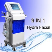 Wholesale whitening spray machine for sale - 8 in Hydra Facial Water Dermabrasion skin cleaning Oxygen Spray with RF Bio photoelctric Spa Facial Machine Hydro Microdermabrasion