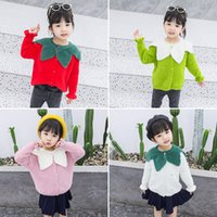 Wholesale strawberry baby girl clothes resale online - Toddler Baby Girl Cardigan Jackets Winter Coat Long Sleeves Strawberry Print Knit Sweater Kids Autumn Clothes