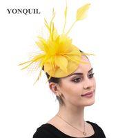 White Sinamay hat Top Rose Wedding Fascinator Headband Hats SYF416