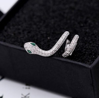 Wholesale copper clip earring resale online - Luxury personality snake ear clip gold snake earrings micro inlaid zircon earrings simple fashion accessories