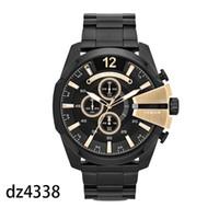 relógio de zona venda por atacado-Multi fuso horário Relógio de pulso Montre luxe Militar Relógio de couro Strap 51mm Big discar DZ aço inoxidável dos homens do relógio de quartzo relógio