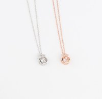 Wholesale red crown pendant necklaces for sale - Group buy The fashion Zircon Necklace Crown Friend Necklace Love of the light Sterling silver Pearl Necklace Women Girls Gift