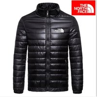 mens slim down ceket toptan satış-Moda Erkek İlkbahar Sonbahar Aşağı Ceketler İnce Slim Fit Mont Pamuk-yastıklı Düz Renk Uzun Kollu Ceket Giyim