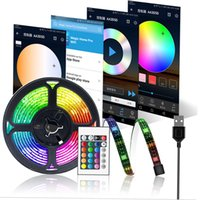 WiFi TV LED Strips Backlight, RGB Waterproof USB Strip Light Kit APP Controlled 5050 Multicoloured Rope Lights Work with Alexa, Google Home