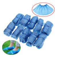 einwegstiefel groihandel-100 teile / los Einwegüberschuhe Kunststoff Regen Wasserdichte Überschuhe Stiefelabdeckungen Krankenhaus Überschuhe Schuhpflege Kits Drop Shiping