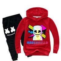 xl kızlar tutu toptan satış-DJ Marshmello Baskılı çocuk giyim setleri İlkbahar ve Sonbahar 1-14Y Erkek Kız Hoodies + Pantolon 2 Parça Setleri çocuklar giysi tasarımcısı JY97