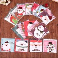 yılbaşı tema kartları toptan satış-Hediye kartları tebrik zarf Noel Yılbaşı onayıyla 16 adet / lot Noel tema kartı Merry Christmas kartı mesajı kart