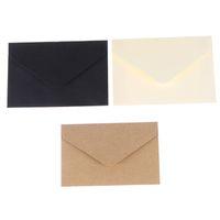 Wholesale kraft paper mini envelopes resale online - 20PCS Classical White Black Kraft Blank Mini Paper Window Envelopes Wedding Invitation Envelope Gift Envelope