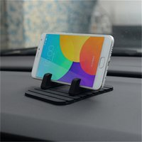 Wholesale phone holder car anti slip resale online - Universal Car Phone Holder Silicone Mobile Phone Holder Mount Stand Desk Bracket Support GPS Dashboard Anti slip Mat