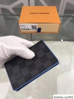 Wholesale handbags designer for sale - Group buy Wallet Business Purse Men Wallets Designer Luxury Handbags Women Purses Orange Box