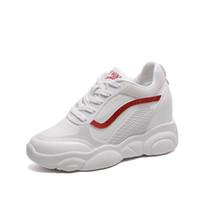 zapatos coreanos de fondo grueso al por mayor-2019 nuevo verano de las mujeres coreanas zapatos casuales 4.5 cm grueso inferior transpirable zapatos deportivos de malla de las mujeres salvajes viejas señoras