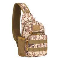 ingrosso pacchetti da escursione sulle spalle-Tracolla crossbody impermeabile in tela di Oxford Escursionismo Satchel Borsa sportiva Camo Chest Pack Bag Camping