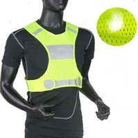 Wholesale cycle safety clothing online - Visibility Reflective Vest Outdoor Safety Vests Cycling Vest Working Night Running Sports Outdoor Clothes Home Clothing OOA6080