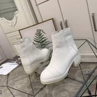 ingrosso stivali colorati crema-Designer Italia importato stivali militari di moda in pelle di alta qualità stivali da lavoro locomotiva occidentale color crema bianco grafite nero 35-40