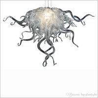 Wholesale handmade house decorations resale online - Amazing Decorative Handmade Blown Murano Glass Chandeliers Handmade Blown Galss Hanging Chain Chandelier for New House Decoration