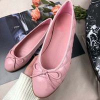 Wholesale ladies stylish shoes for sale - Ladies ballet shoes new high end bow tie diamond checked single shoes stylish and comfortable flat shoes