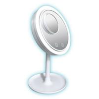 lámpara 5x al por mayor-5X lupa LED espejo de maquillaje de la lámpara 3 en 1 belleza cosmética Desk-Top mantiene la piel fresca belleza LED iluminado Espejos MMA2194