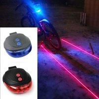kırmızı led yanıp sönen güvenlik ışıkları toptan satış-Yüksek Kaliteli bisiklet lazer ışıkları Yanıp Sönen LED Lamba Kuyruk Işık Arka bisiklet Bisiklet Bisiklet Güvenlik Uyarı 5 kırmızı Led ışık modları # 191373