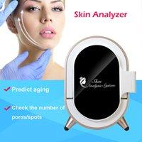 máquina analizadora de cabello al por mayor-Máquina de análisis de piel profesional Analizador de piel con espejo mágico UV Analizador facial Sistema de diagnóstico de la piel Máquina de análisis facial