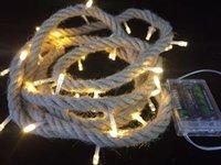 weihnachtslichtquelle großhandel-Cross-border Source Retro Leinen Lampe Bar Mall Festival Dekoration 3M führte farbige Lampe Weihnachtsbeleuchtung Großhandel