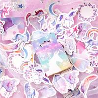 almofadas de notas em caixa venda por atacado-Venda quente 45 pçs / caixa Kawaii Unicórnio Diário Caderno de Desenho Pintura Graffiti Capa de Papel Memo Pad Material Escolar Escritório