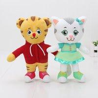 игрушки для клоуна оптовых-20 см Даниэль Тигр соседство Тигр Катерина кошка плюшевые игрушки кукла детский подарок