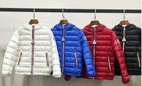 weiße mäntel für babys großhandel-heißer Verkauf hochwertiger Marke Winter Baby Mädchen Jungen Mantel 90% weiße Ente Daunenmantel Freies Verschiffen