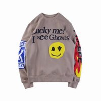 ingrosso stelle d'anca-18FW Hip Hop Stars Kanye West Album KidS Vedi Ghosts Freeee Skateboard Fleece Hoodie Cool Pullover Uomo Donna Cotone manica lunga Casual Felpa con cappuccio