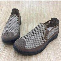 ingrosso uomini d'affari casuali di lavoro-Scarpe casual da uomo d'affari in maglia traspirante estate scarpe da lavoro piene