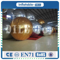 Wholesale pc diameter resale online - 10 m diameter Brightness Shine Sphere Inflatable Mirror Ball Reflective Balloon With Customized Size Home Garden Ornament Decoration