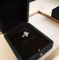 joyas de plata 925 anillos plateados al por mayor-Famoso diseñador de joyas de plata 925 chapado en oro anillo de diamante gota mujeres boda anillo de diamante joyería