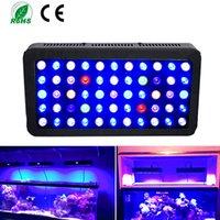 luz de coral regulable al por mayor-LED de luz del acuario de arrecife de coral Dimmable llevó las luces 165W para el tanque de pescados, Full Spectrum Coral Reef crece la luz adecuados para 55-75 galones quila