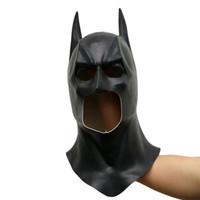 ingrosso batman cosplay-Batman Maschere Realistico Halloween Full Face Latex Batman Pattern Mask Costume Party Maschere di Carnevale Cosplay Puntelli