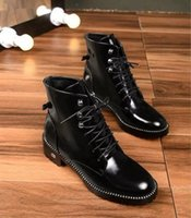 Wholesale lace up boots korean style resale online - 2019 Hot Women Boots Mid Boots With High Black Elastic Fashion With High For Fashion Lady Korean Style Size